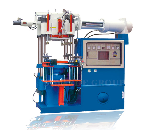 Rubber injection molding machine for horizontal injection